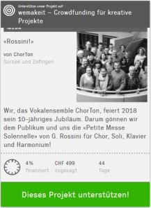 10 Jahre ChorTon Vokalensemble - Projekt Rossini!